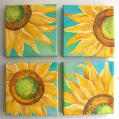 canvas sunflowers