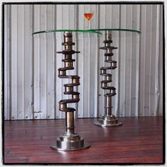 Airplane engine Aviation Art CRANKSHAFT Industrial Martini Side Table by planepieces on Etsy https://www.etsy.com/uk/listing/86158195/airplane-engine-aviation-art-crankshaft