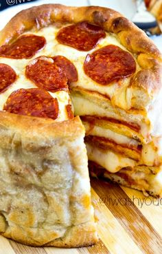 The Pizza Cake - enough said!  Damn this looks GOOD !!!!!!!!