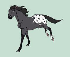 Horse Cartoon Drawing, Horse Drawings, Cartoon Drawings, Spirit The Horse, Spirit And Rain, Horse Animation, Horse Story, Httyd Dragons, Watercolor Horse