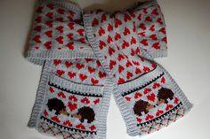 Free scarf pattern: Hedgehog Love Scarf