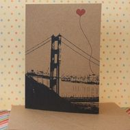 heart over the golden gate. unionstreetpapery / SAN FRANCISCO ITEMS