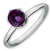 1ct Charming Silver Stackable Amethyst Briolette Ring. Sizes 5-10 Available Jewelry Pot. $35.99. Your item will be shipped the same or next weekday!. Fabulous Promotions and Discounts!. 30 Day Money Back Guarantee. All Genuine Diamonds, Gemstones, Materials, and Precious Metals. 100% Satisfaction Guarantee. Questions? Call 866-923-4446
