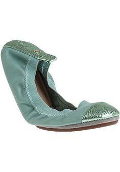Yosi Samra - Samantha Ballet Flat Seafoam Leather