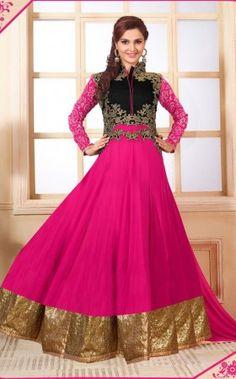 Pink Georgette Anarkali Salwar Suit