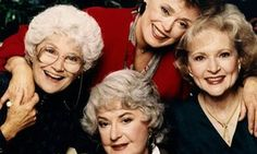 Estelle Getty, Beatrice Arthur, Rue McClanahan and Betty White in The Golden Girls.