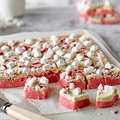Festive Fudge With Peppermint Bark - from Lakeland