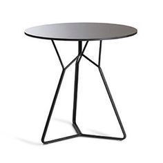 SERAC CAFE TABLE - ANTHRACITE - Sculptural, modern black outdoor side table.