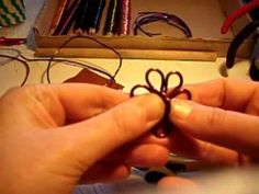 "How to make a wire ""fleurette"" component. (Not English, visuals give enough)  #Wire #Jewelry #Tutorials"