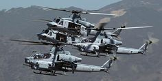 During Flying The Barn exercise U.S. Marine Light Attack Helicopter Squadron 369 launched a unique assault formation made of AH-1Z Viper attack and UH-1Y Venom tactical transport helicopters. On No…