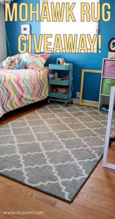 Girls Room Makeover Part 1: Mohawk Rug Giveaway #girlsroom #homedecor #mohawkruggiveaway