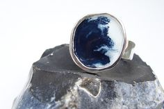 Hey, I found this really awesome Etsy listing at https://www.etsy.com/il-en/listing/232566711/enamel-small-pebble-ring-indigo-storm