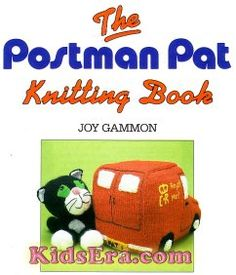 Vintage 80s knitting pattern for postman pat doll and jess the cat knitting bookmarks dt1010fo