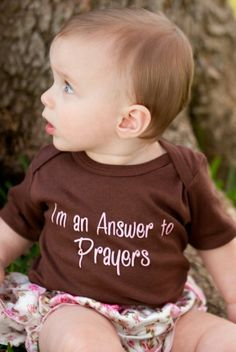 I'm an Answer to Prayers PINK-Christian Baby Onesie, I'm an Answer to Prayers, Baby Onesies with Christian Sayings