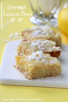 Coconut Lemon Bars (GF, DF)