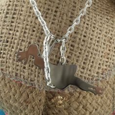 Girl on a swing pendant free shipping  stainless от BorowskiStore