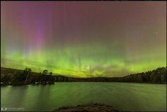 Northern lights over Sognsvann
