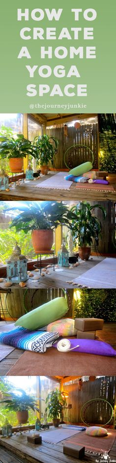 Learn how to create an inspiring home yoga space to create and cultivate your yoga practice!