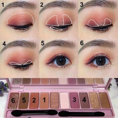 Just click the link to read more about easy eye makeup guides makeup ulzzang Bronze Eye Makeup, Red Eye Makeup, Asian Eye Makeup, Simple Eye Makeup, Natural Eye Makeup, Kiss Makeup, Cute Makeup, Asian Eyeshadow, Makeup Art