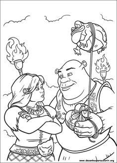 Desenhos para colorir - Shrek para sempre para colorir