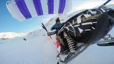 Neue Extremsportart: Schneemobil-Gleitschirmfliegen - wildcrumbs