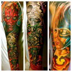 Star Wars Tattoo  #JeremiahHanzey #Stainedskinsecondskin