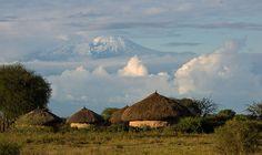 Traditional Masai village at the footsteps of Kilimanjaro, Tanzania