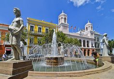 Plaza de Armas, Old San Juan, Puerto Rico. #ViejoSanJuan #OldSanJuan
