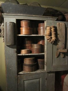 PRIM CUPBOARD AND OLD PANTRY BOXES