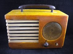 Antique Emerson Bakelite Catalin Butterscotch Tube Table Radio for Parts Restore #Emerson