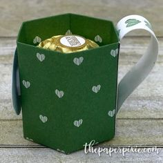 Coffee Mug Treat Holder with Facebook Live Video Tutorial - The Paper Pixie