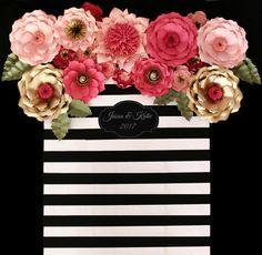 Papel de telón de fondo de flores centro de mesa por APaperEvent