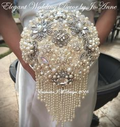 PEARL BROOCH BOUQUET  Deposit for a custom by Elegantweddingdecor