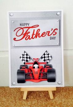 Formula 1 Fathers Day Card * Formula 1 Card * Racing Car Card * Handmade Card * Fathers Day Card * Card For Dad * Happy Fathers Dad * Dad *