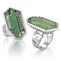 Bretterbauer Juweliere - Unique - PRASIOLITH Ring Prasiolite, High Jewelry, Bracelet Watch, Jewels, Mirror, Bracelets, Unique, Diamonds, Accessories