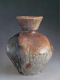 Shigaraki Anagami ceramic pottery