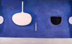 'Blue Still Life with Knife' (1971) by British painter William Scott (1913-1989).  Oil on canvas, 122 x 198 cm. via the artist's site