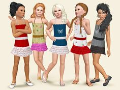 Girls favorite dress by Wimmie - Sims 3 Downloads CC Caboodle