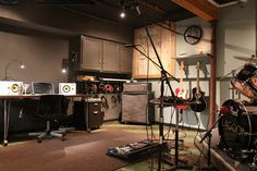 finished basement home recording studio