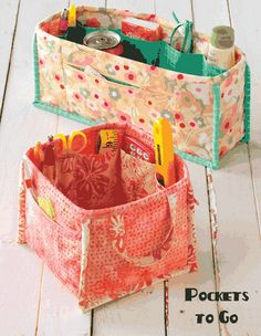 Pockets to go! (pattern)..make one for my tools...to fit in my rolling sewing machine cart
