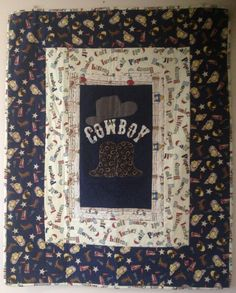 Cowboy Cot Quilt on Etsy, $120.00 AUD