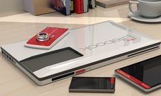 Fujitsu Lifebook: The Conceptual Laptop With Removable Smartphone, Camera And Tablet.      I would like this.    I want this now.