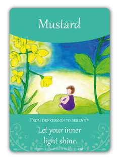 Mustard - Bach Flower Oracle Card by Susanne Winberg. Message: Let your inner light shine.