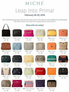 If you ever wanted to own a Miche starting tomorrow order a base or face for 16.00. Order at https://sandrasgotmy.miche.com Please attach your order to the party and you'll be entered in a drawing for a free face from my inventory.