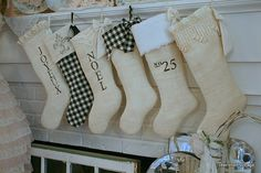 Black and Cream Christmas by cherished*vintage, via Flickr