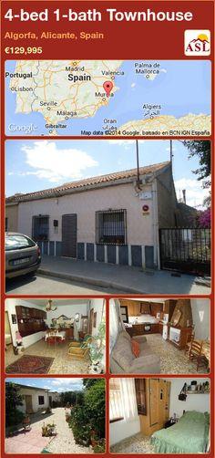 4-bed 1-bath Townhouse in Algorfa, Alicante, Spain ►€129,995 #PropertyForSaleInSpain