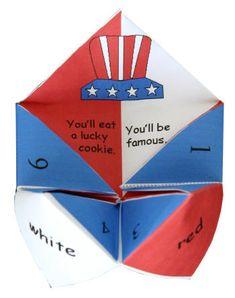 U.S.A. origami Fortune Teller