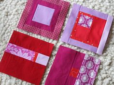 Beautiful improv squares They remind me of Erin Wilson's work. Kind of a modern Dear Jane