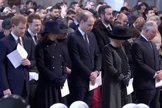 Families of victims of the Grenfell Tower fire have been joined by members of the Royal Family at a special memorial service at St Paul's Cathedral in London today. King Queen Prince Princess, Princess Kate, Princess Charlotte, Prince William And Catherine, William Kate, Prince Charles, Duchess Of Cornwall, Duchess Of Cambridge, London Today
