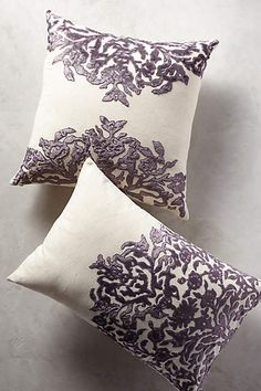 Vining Velvet Pillow - anthropologie.com